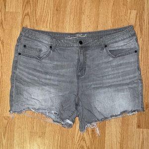 Gray Jean Shorts
